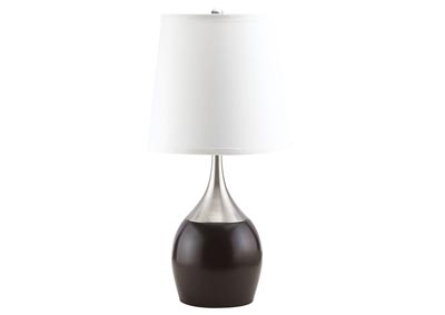 Image for Willow Brushed Silver/Espresso Table Lamp (Set of 4)