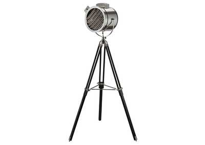 Cinema Black & Chrome Floor Lamp