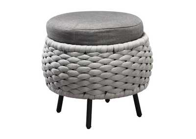 Image for Egil Fabric & Gray Patio Ottoman