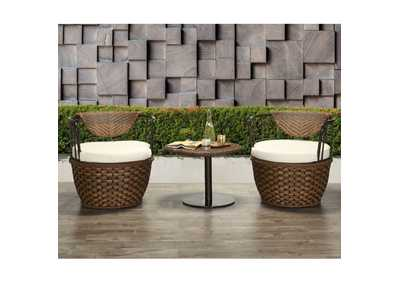 Image for Eskil Fabric & 2-Tone Brown Wicker Patio Set