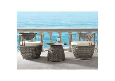 Image for Eskil 2-Tone Gray Wicker Patio Table