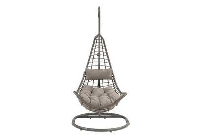 Image for Uzae Gray Patio Hanging Chair with Stand