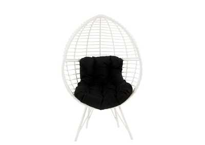 Image for Galzed Black/White Patio Lounge Chair