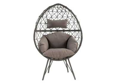 Image for Aeven Gray/Black Patio Lounge Chair