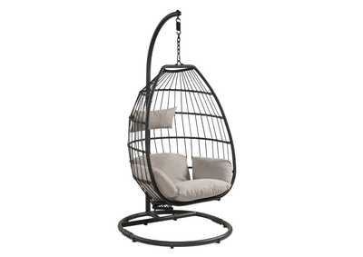 Image for Oldi Beige/Black Patio Hanging Chair with Stand