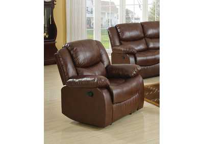 Image for Fullerton Brown Bonded Leather Match Recliner
