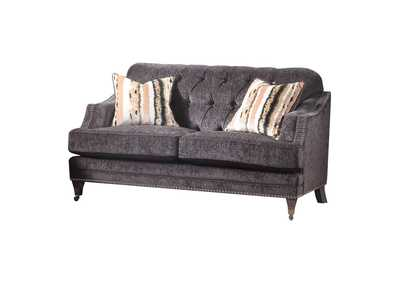 Image for Helenium Gray Chenille Loveseat
