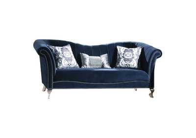 Image for Jaborosa Blue Velvet Sofa