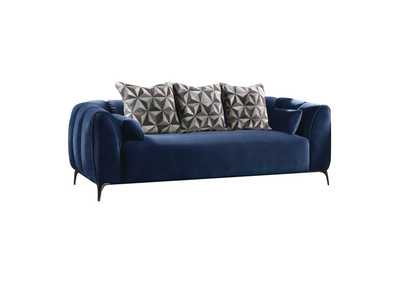Image for Hellebore Blue Velvet Sofa