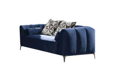 Image for Hellebore Blue Velvet Loveseat