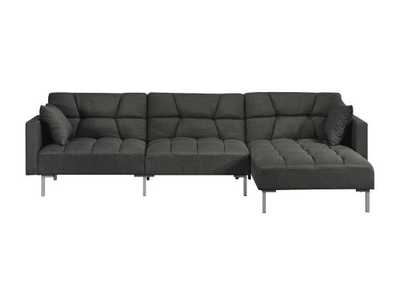 Image for Duzzy Gray Reversible Adjustable Sectional Sofa w/2 Pillows