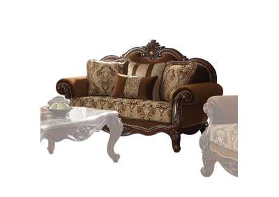 Image for Jardena Fabric & Cherry Oak Loveseat