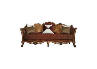 Image for Beredei Fabric & Antique Oak Sofa