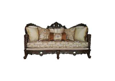 Image for Devayne Fabric & Dark Walnut Sofa