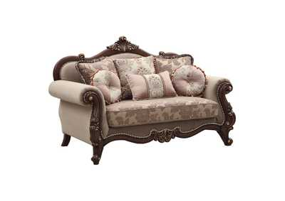 Image for Mehadi Velvet & Walnut Loveseat