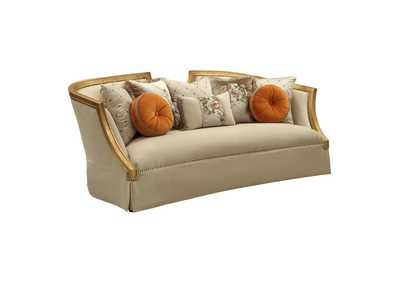 Image for Daesha Tan Flannel & Antique Gold Sofa