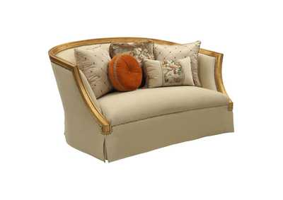 Image for Daesha Tan Flannel & Antique Gold Loveseat