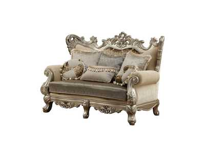 Ranita Fabric & Champagne Loveseat,Acme