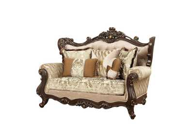 Image for Shalisa Fabric & Walnut Loveseat