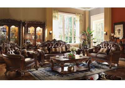 Image for Vendome Cherry Sofa and Loveseat w/5 Pillow