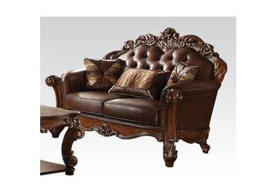 Image for Vendome Cherry PU & Cherry Loveseat