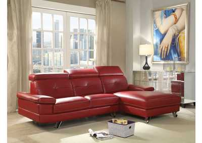 Image for Aeryn Red PU Sectional Sofa