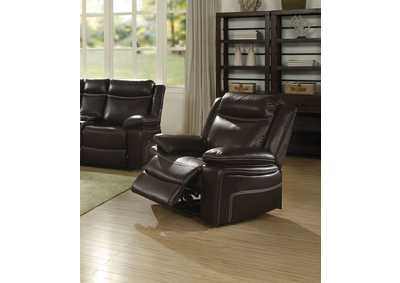 Image for Corra Espresso PU Recliner