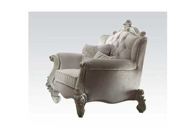 Versailles Ivory Velvet & Bone White Chair,Acme