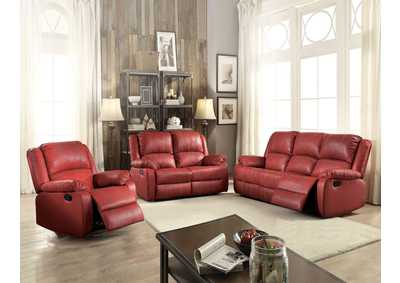 Image for Zuriel Red Reclining Sofa