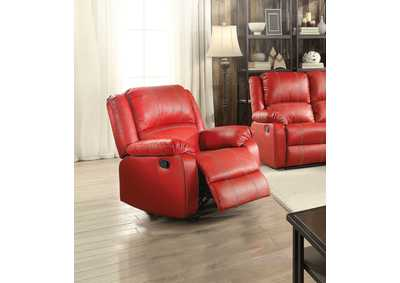 Image for Zuriel Red PU Rocker Recliner