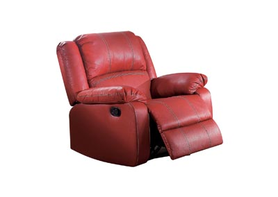 Zuriel Red Rocker Recliner (Motion)