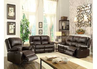 Image for Zuriel Brown Reclining Loveseat