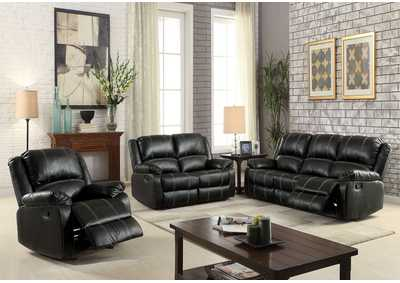 Image for Zuriel Black Reclining Loveseat
