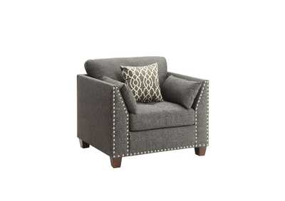 Laurissa Charcoal Chair w/3 Pillow,Acme