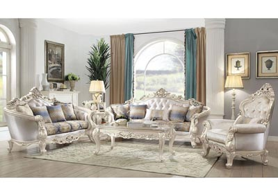 Image for Gorsedd Antique Champagne Sofa and Loveseat w/Pillow