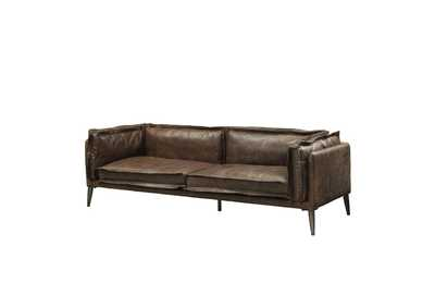 Image for Porchester Distress Chocolate Top Grain Leather Sofa