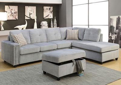 Image for Belville Gray Ottoman