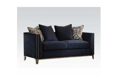 Phaedra Blue Fabric Loveseat,Acme