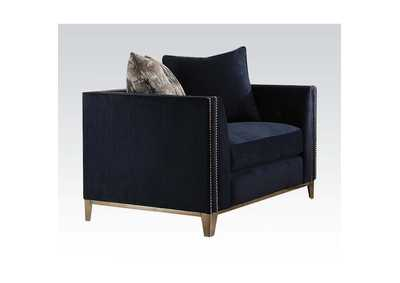 Phaedra Blue Fabric Chair,Acme