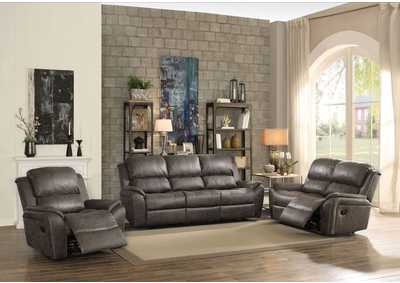 Barnaby Gray Polished Microfiber Sofa