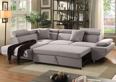 Image for Jemima Gray Sectional Sleeper Sofa