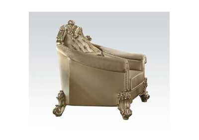 Vendome II Bone PU & Gold Patina Chair,Acme