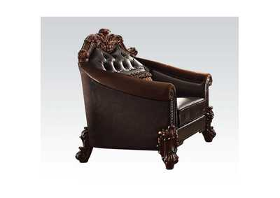 Vendome II 2-Tone Dark Brown PU & Cherry Chair,Acme