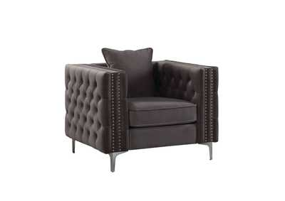 Gillian II Dark Gray Velvet Chair