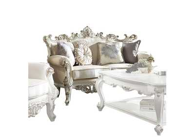 Picardy II Fabric & Antique Pearl Loveseat,Acme