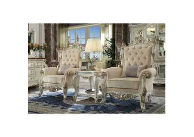 Image for Picardy II Antique Pearl Accent Chair & Pillow