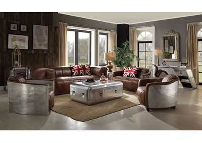 Image for Brancaster Retro Brown Sofa