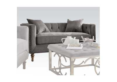 Sidonia Gray Velvet Loveseat,Acme
