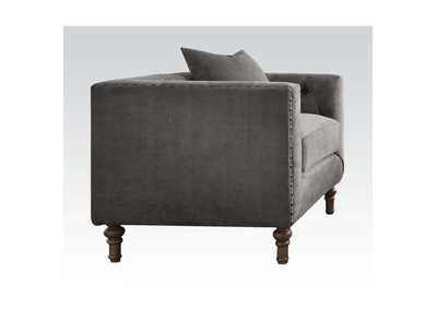 Sidonia Gray Velvet Chair,Acme