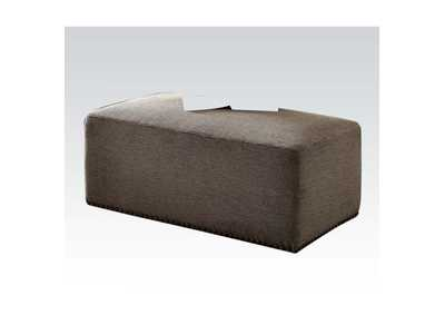 Image for Ushury Gray Chenille (2-Tone) Ottoman